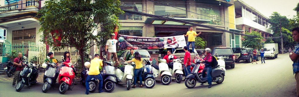 Chang 2 trong tour Vespa On The Road