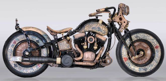 HarleyDavidson do phong cach cung nghe thuat Tattoo