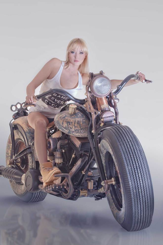 HarleyDavidson do phong cach cung nghe thuat Tattoo - 3