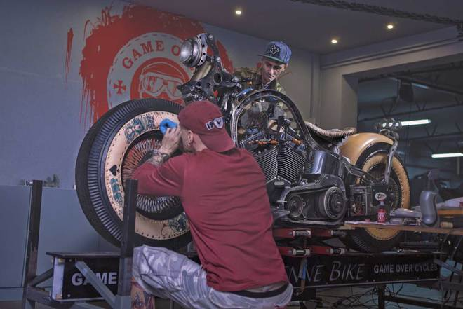 HarleyDavidson do phong cach cung nghe thuat Tattoo - 4