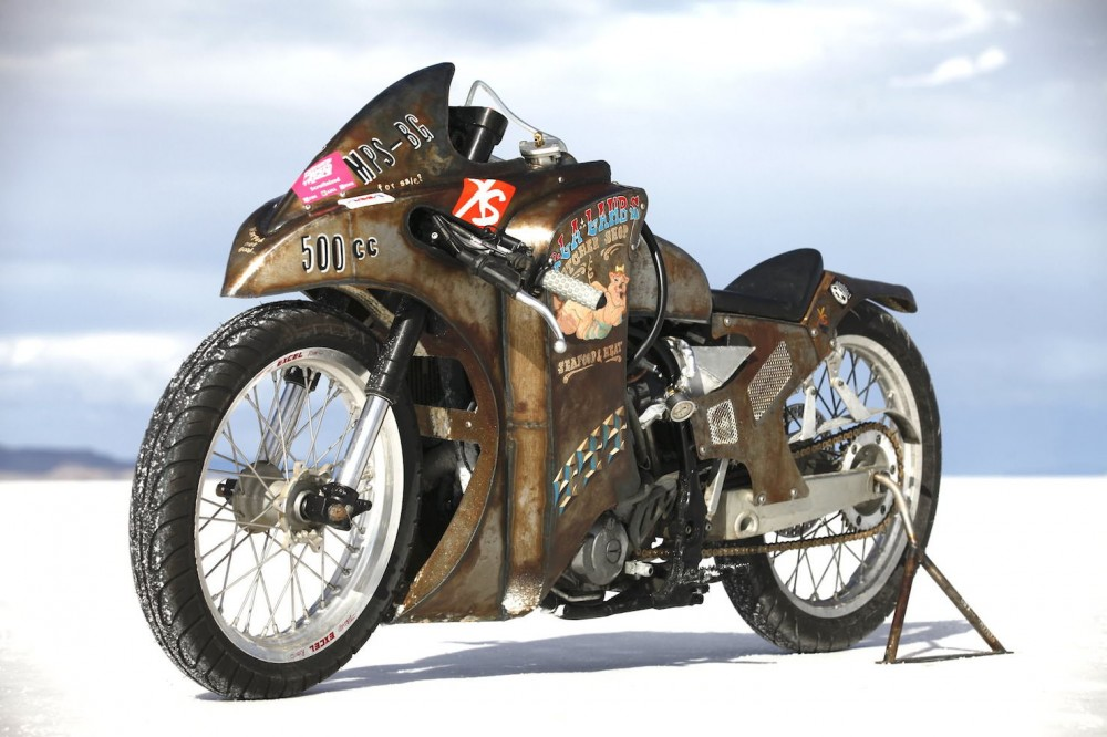 Yamaha WR450F do cuc quai voi phong cach Bonneville streamliner - 2