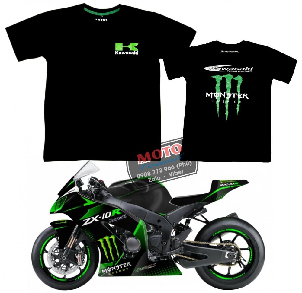 Ao thun Yamaha monster - 3
