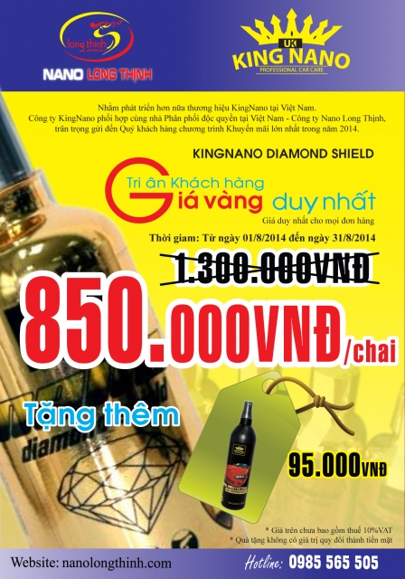 KING NANO Diamond shield Khuyen mai - 2