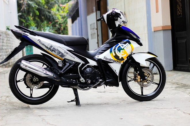 Exciter 135 Do voi phong cach Hoang Gia Tay Ban Nha - 2