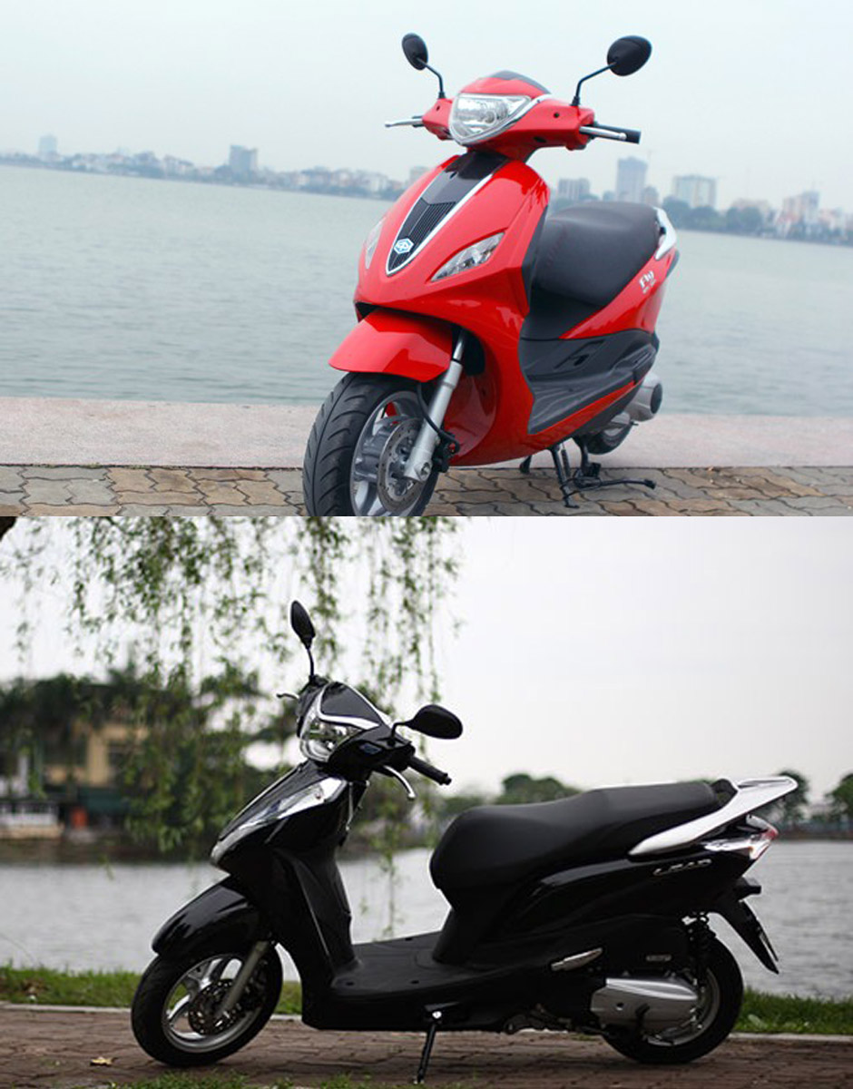 So sanh Honda Lead 125 va Piaggio Fly 3V 2015