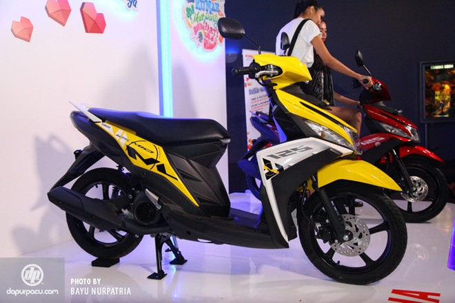 Yamaha ra mat Mio 125 Blue Core tai Indonesia