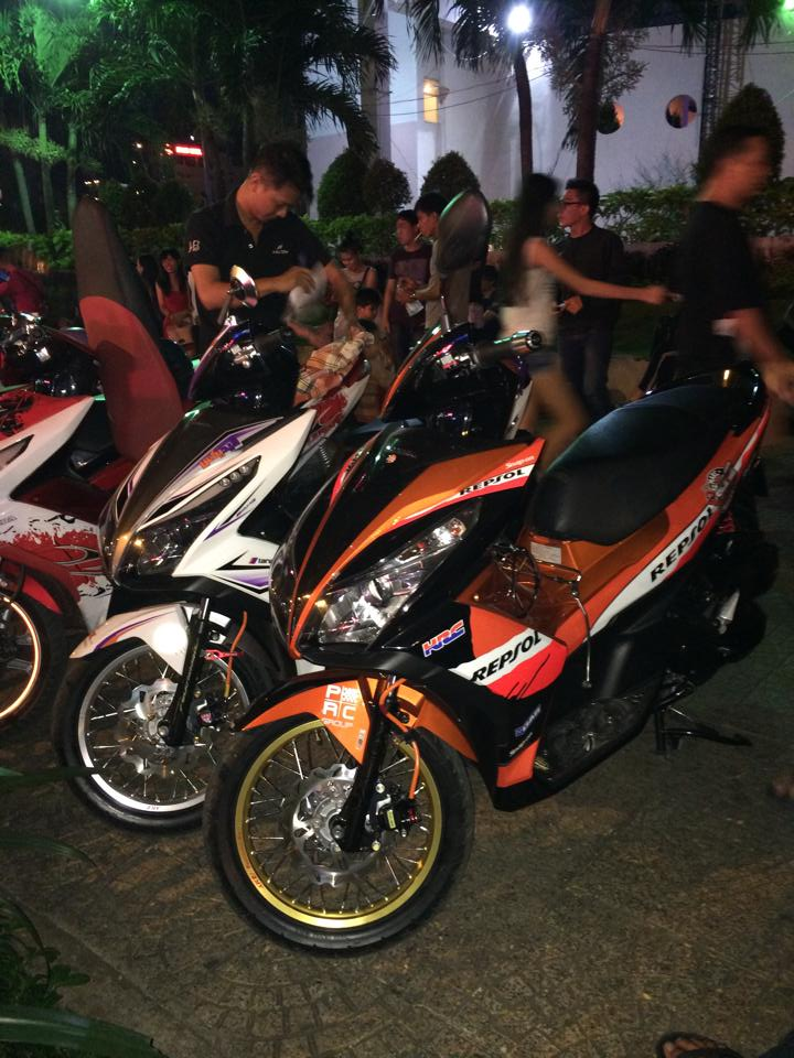 AirBlade 125 do tuyet dep voi phong cach Repsol - 4