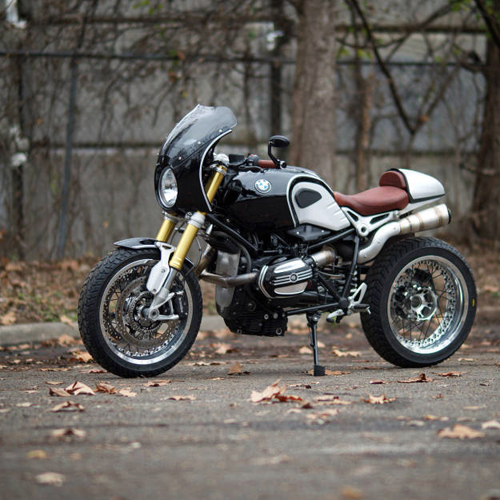 BMW R NineT Do phong cach Cafe Racer