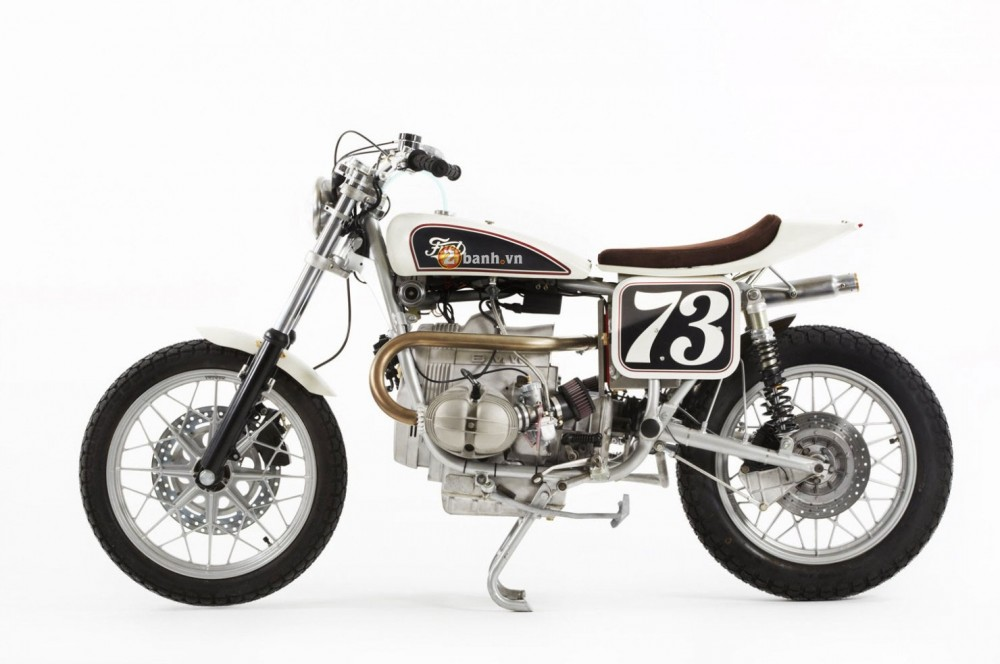 BMW R100RS Do theo phong cach Flat Tracker
