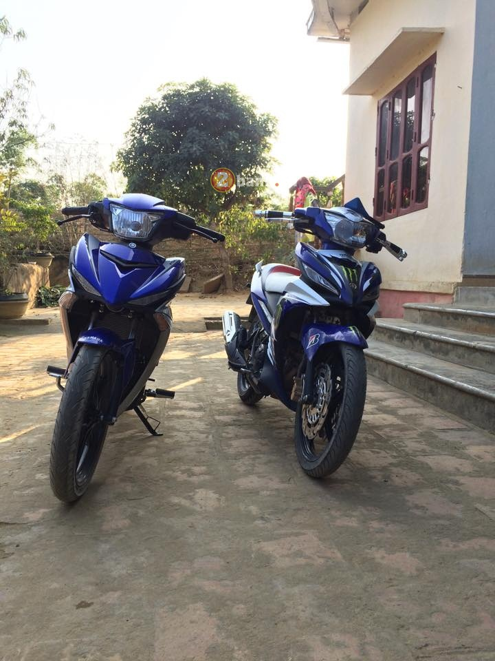 Exciter 150 khoe dang cung Exciter 135 do
