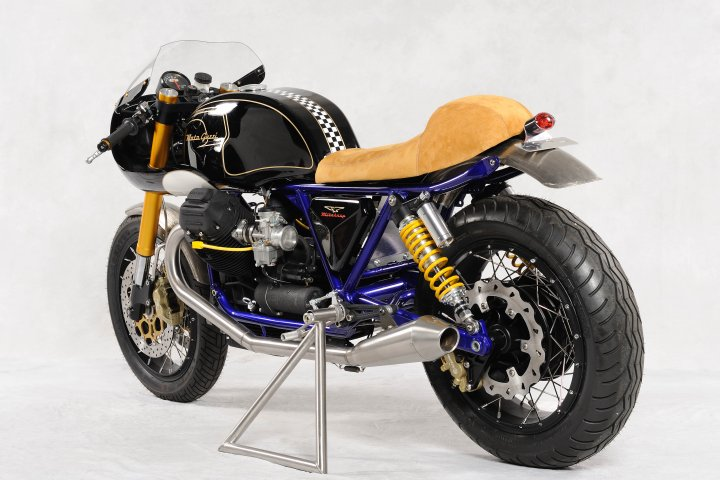 Guzzi Mikakazy do day tinh nghich voi phong cach Cafe Racer - 6