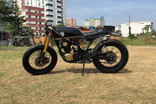 Honda FTR 223 do Cafe Racer ma vang doc dao