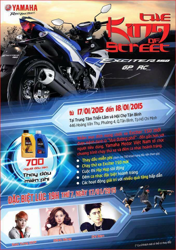 Ngay hoi Exciter 150 tai HCM The King Of Street
