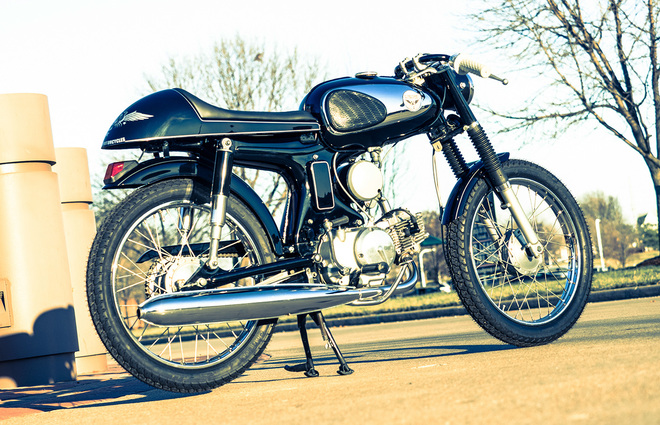 Honda S90 do Cafe Racer co dien va lich lam