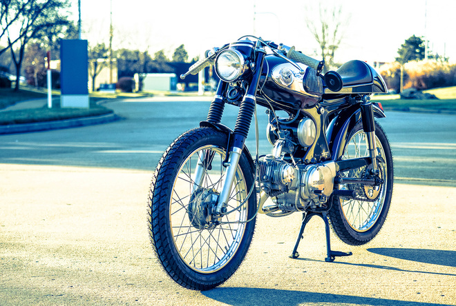Honda S90 do Cafe Racer co dien va lich lam - 2