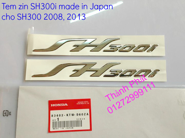 Tem zin SH 300i Made in Japan cuc dep cho SH 300i 2008 SH 300i 2014 Gia tot Up 7112014 - 7