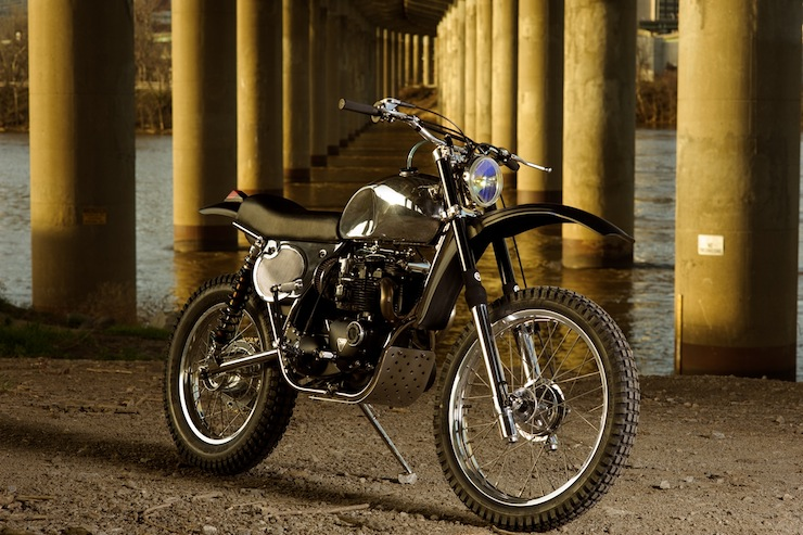 Triumph Bonneville 1974 do phong cach Tracker danh cho Offroad - 4