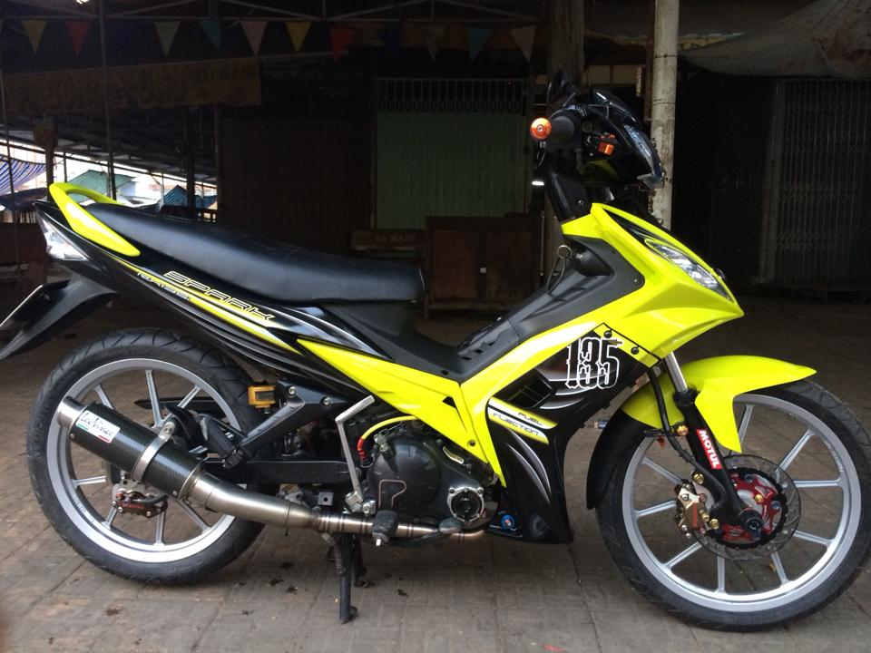 Exciter Spark 2010 do khung rat uy luc - 2