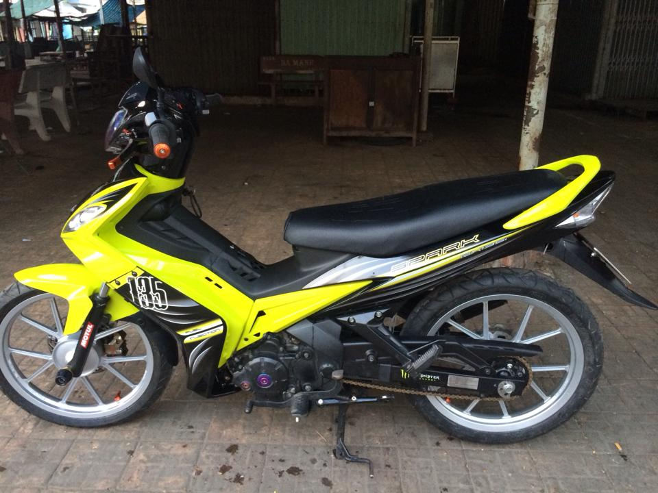 Exciter Spark 2010 do khung rat uy luc - 4