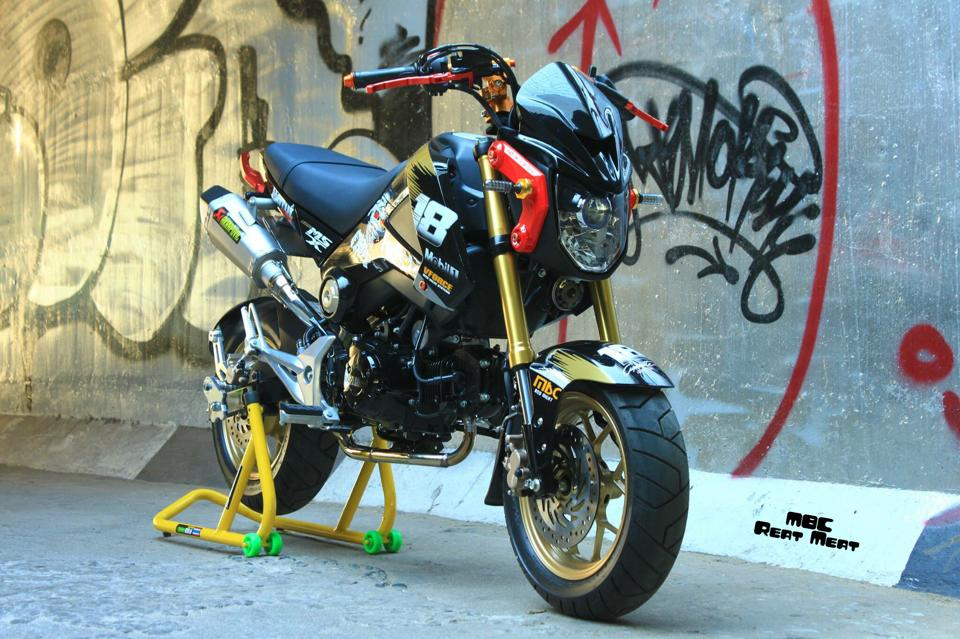 Honda MSX do kieng dep mat voi dan do choi chat