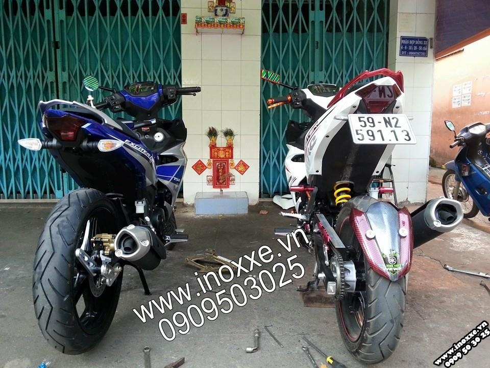 Exciter 150 trang do nhieu do choi chat