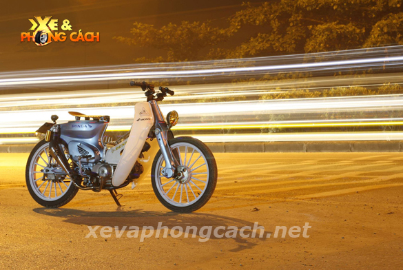Honda Cub doi 79 do chat voi phong cach Bobber - 11