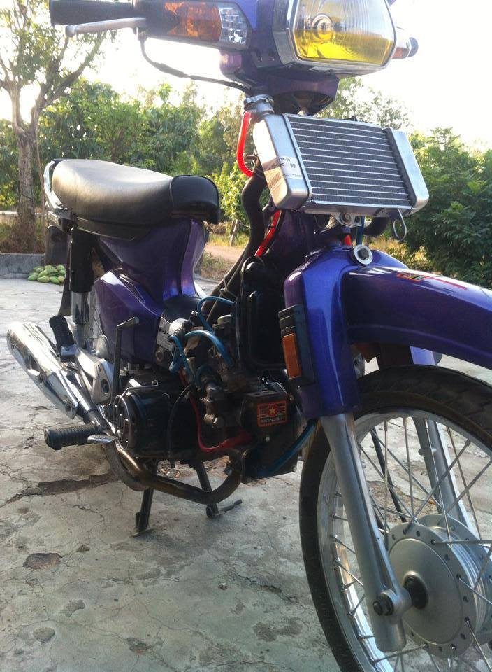 Honda Dream tim do 4val may nuoc noi cong khung - 4