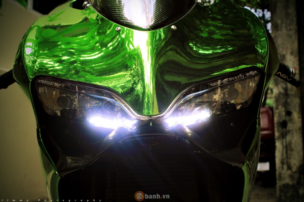 Ducati 899 Panigale ban do mau Chrome cuc an tuong - 3