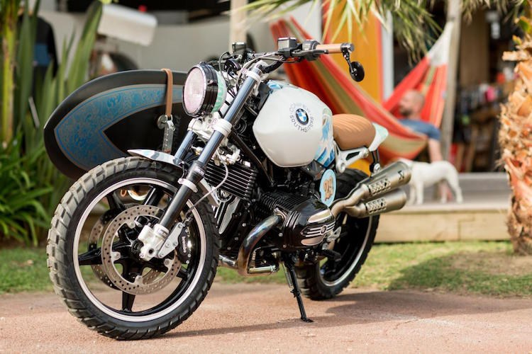 Can canh BMW R Nine T do phong cach Scrambler day ca tinh