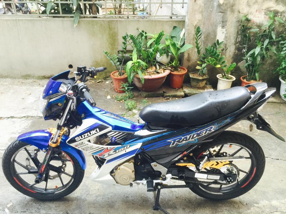 Suzuki Raider do noi bat cua biker Ha Thanh
