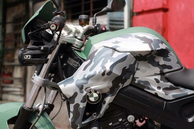BMW F800GS Camo do day doc dao cua biker Sai Gon - 2