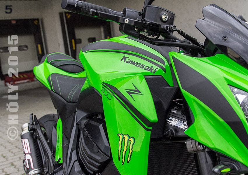 Kawasaki Z800 2015 do noi bat voi phien ban Ultra Green - 3