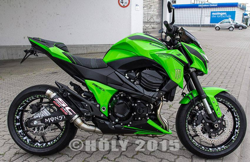 Kawasaki Z800 2015 do noi bat voi phien ban Ultra Green - 8