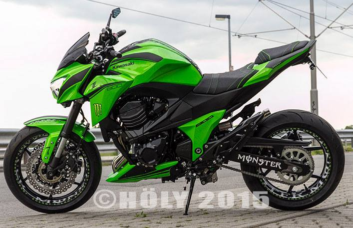 Kawasaki Z800 2015 do noi bat voi phien ban Ultra Green - 9