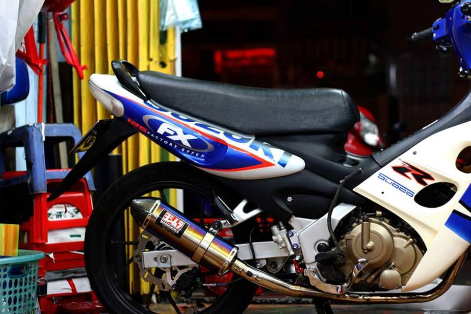Lo anh chiec FX125 do dang nam im trong spa - 4