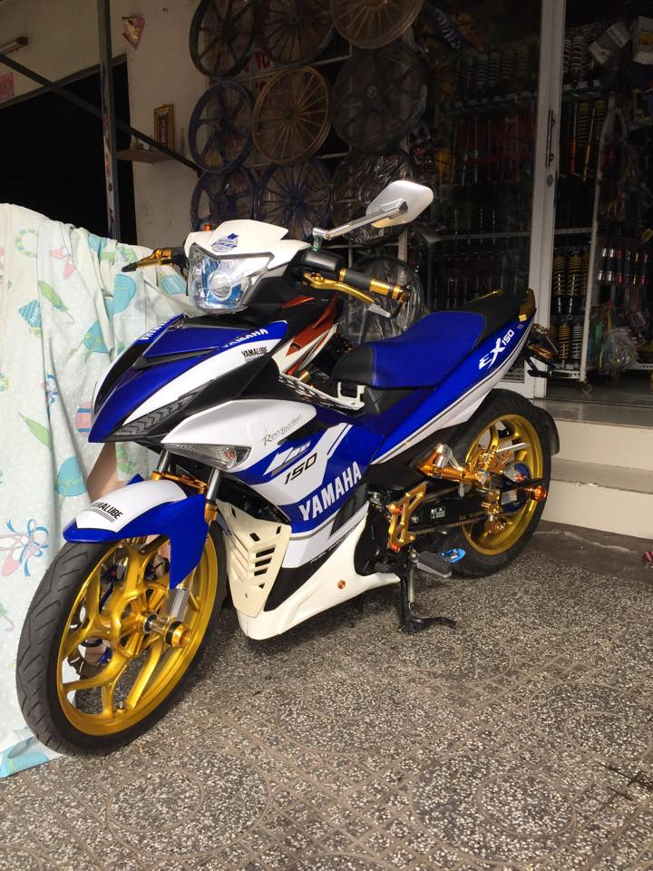 Loat anh chiec Exciter 150 khoe trang suc long lay - 2