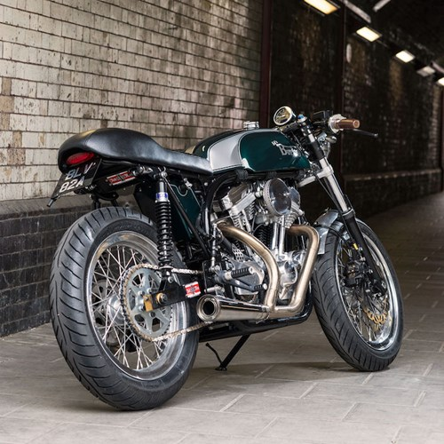 Cafe Racer Burton chiec mo to do voi khung suon Anh dong co My - 4