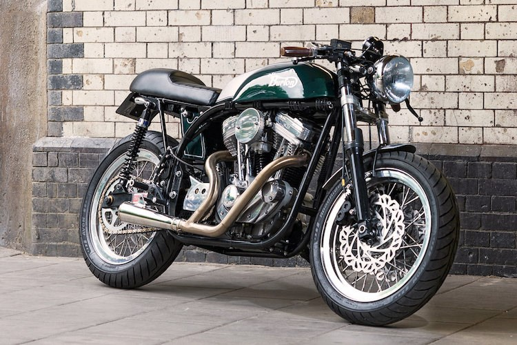 Cafe Racer Burton chiec mo to do voi khung suon Anh dong co My - 6