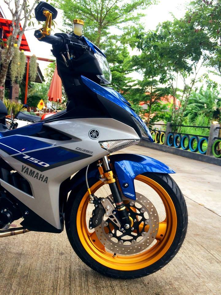 Exciter 150 Do doc voi dan chan khung