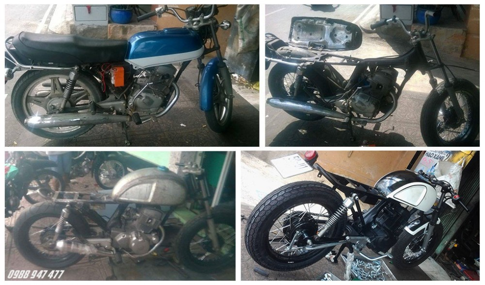 Honda CB 125 do cafe racer Ngon bo re