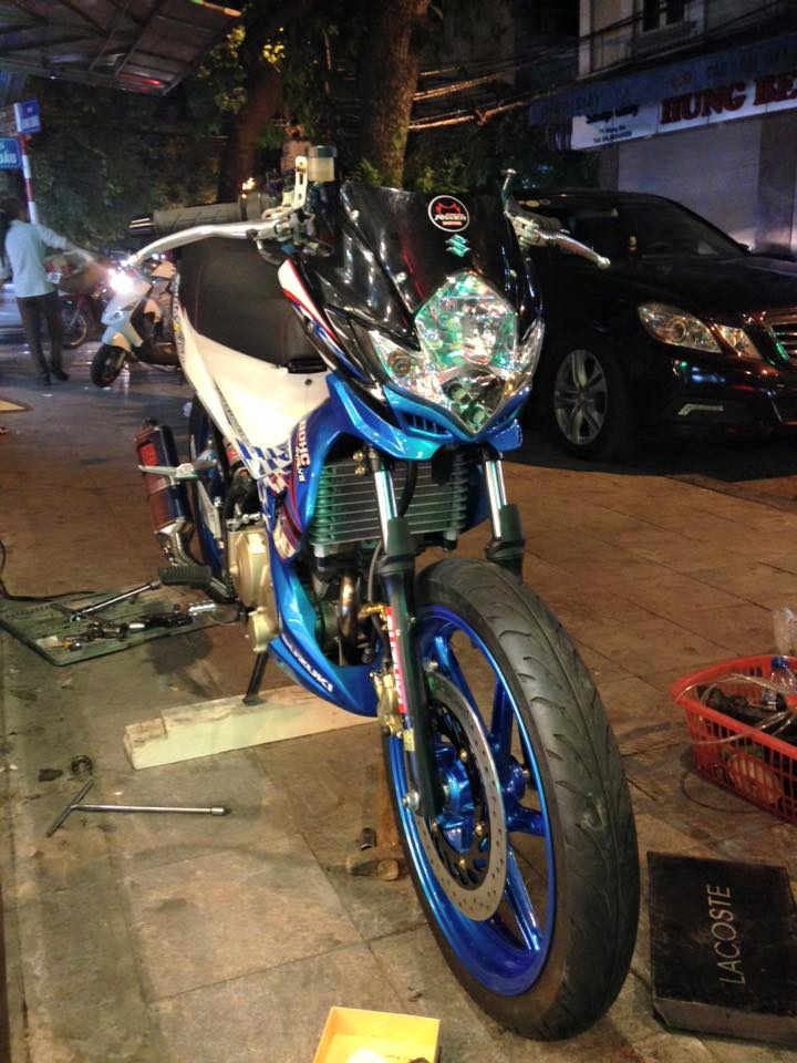 Suzuki Raider do that phong cach voi dan chan 1 gap - 2