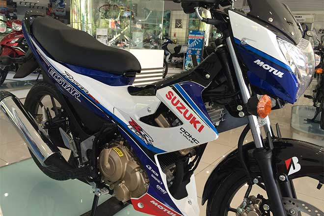 Suzuki Raider R150 la mat voi dan ao do tu dai ly chinh hang - 7