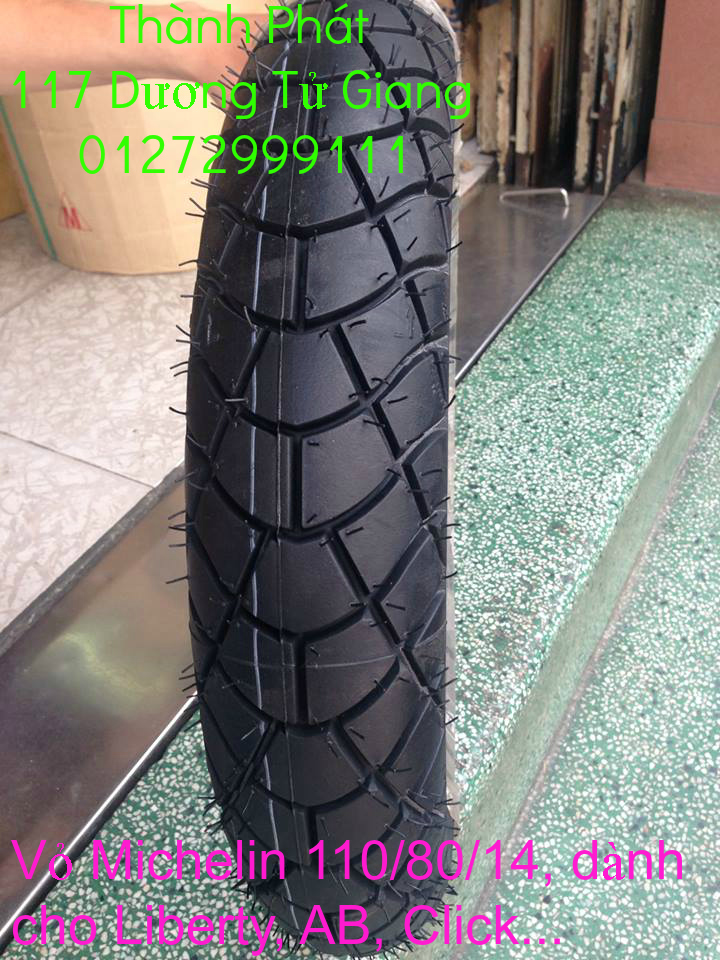 Vo lop xe may PKL va xe nho DunLop Michelin Briedgestone Continental IRC VeeRuber Swallow - 31