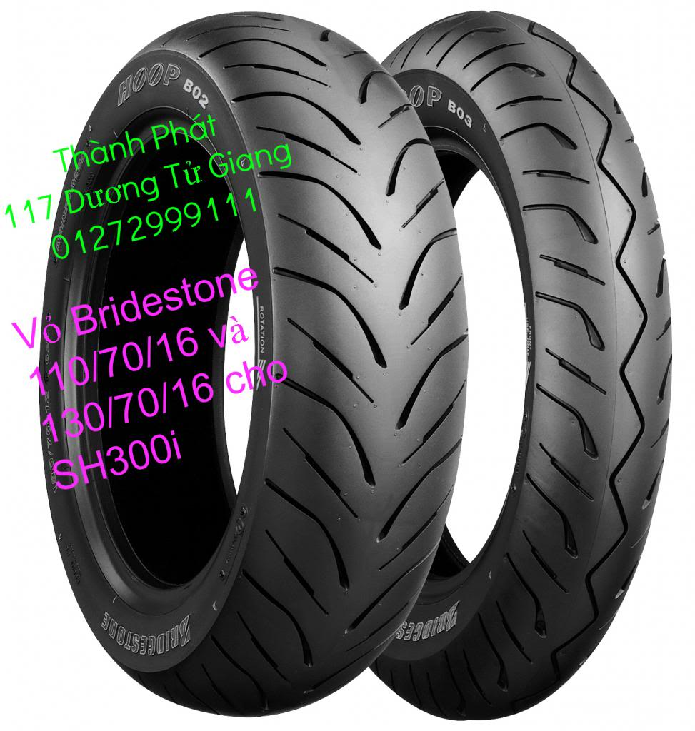 Vo lop xe may PKL va xe nho DunLop Michelin Briedgestone Continental IRC VeeRuber Swallow - 32