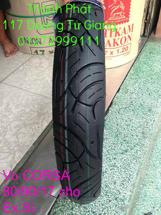 Vo lop xe may PKL va xe nho DunLop Michelin Briedgestone Continental IRC VeeRuber Swallow - 8