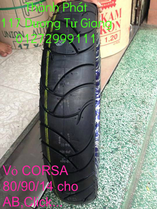 Vo lop xe may PKL va xe nho DunLop Michelin Briedgestone Continental IRC VeeRuber Swallow - 10