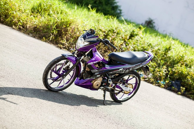 Raider R150 do dan ao tim noi bat cua biker Long An - 6