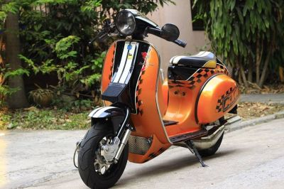 Vespa PX 150 racing stylephong cach moi - 5