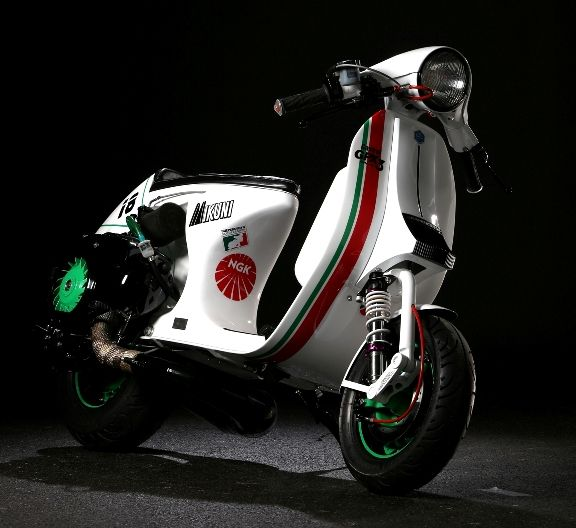 Vespa PX 150 racing stylephong cach moi - 7