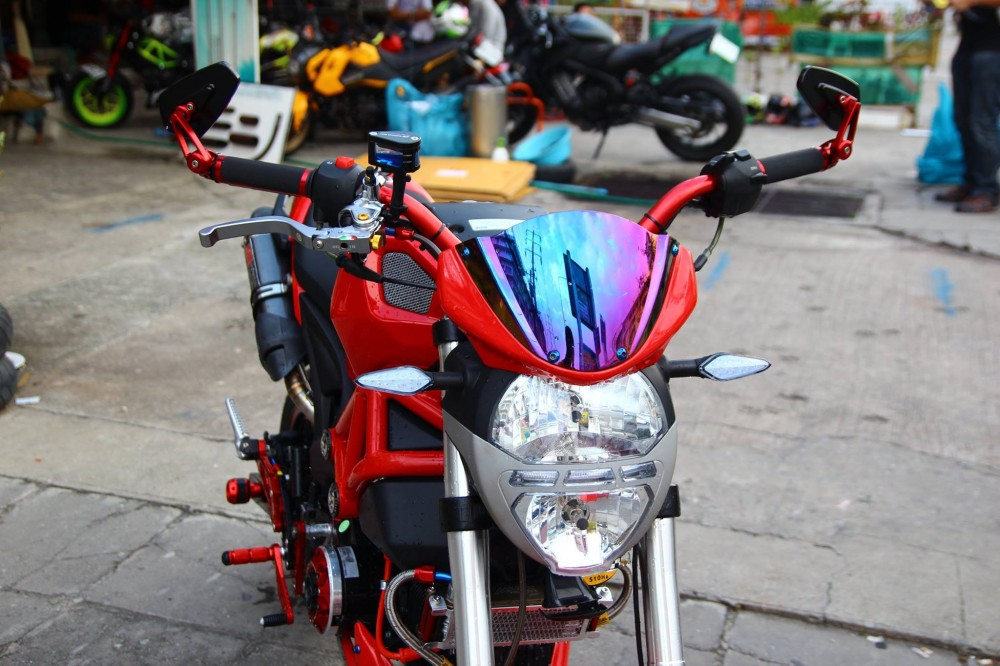 GPX Demon 125 do phong cach chat choi cua dan choi Thai - 2
